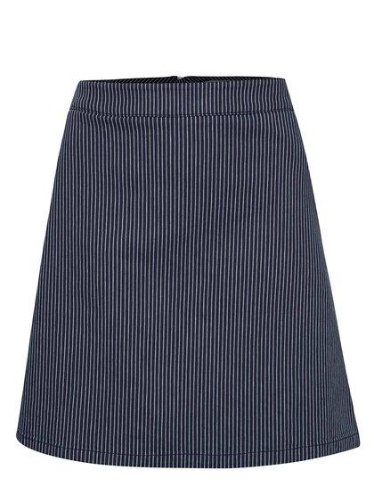 Tmavě modrá kratší sukně s bílými pruhy Dorothy Perkins