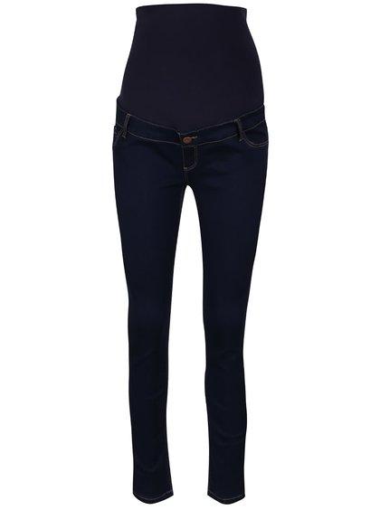 Tmavě modré těhotenské super skinny džíny s vyšším pasem Dorothy Perkins Maternity