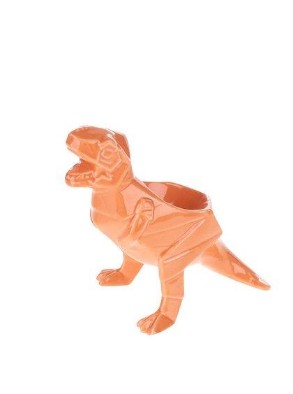Oranžový porcelánový kalíšok na vajce Dinosaurus Disaster