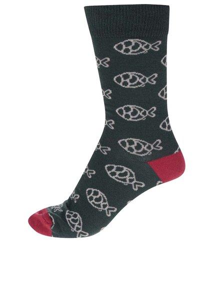 Zelené ponožky s motivem ryb ZOOT Originál