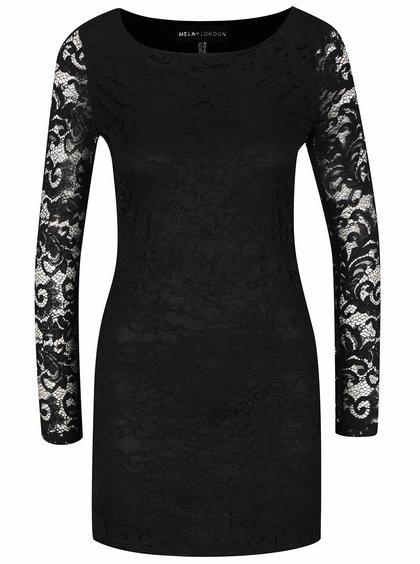 Rochie neagră Mela London din dantelă