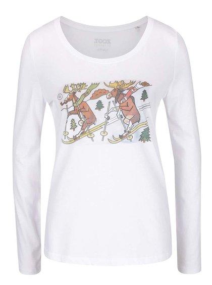 Bílé dámské tričko s dlouhým rukávem ZOOT Originál Jos Lada Sobíci