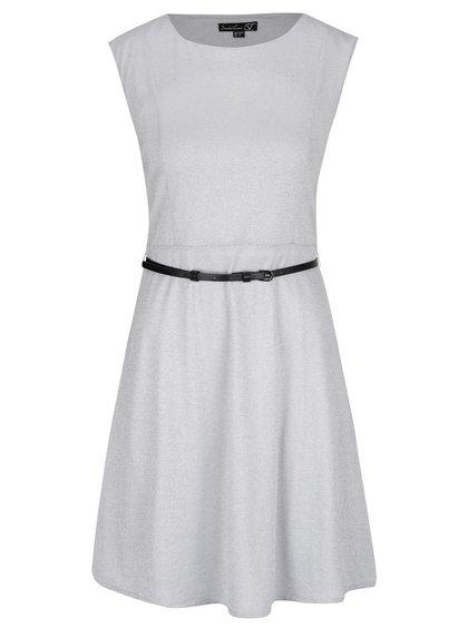 Svetlosivé šaty s opaskom Smashed Lemon