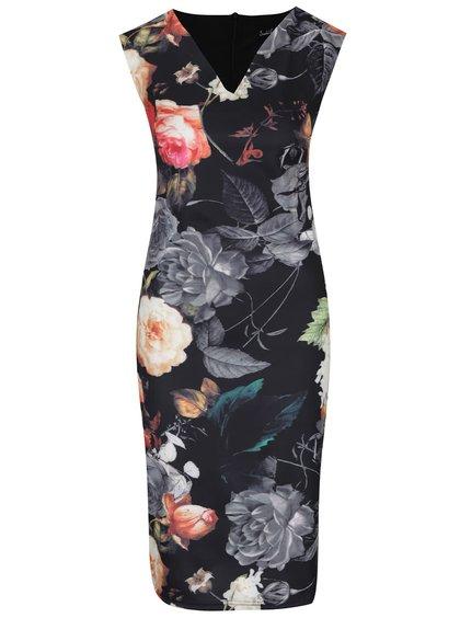 Černé květované šaty Smashed Lemon