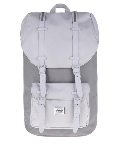 Šedý unisex batoh s šedými popruhy Herschel Little America 25 l