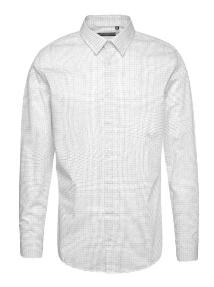 Krémová pánská vzorovaná slim fit košile Pietro Filipi