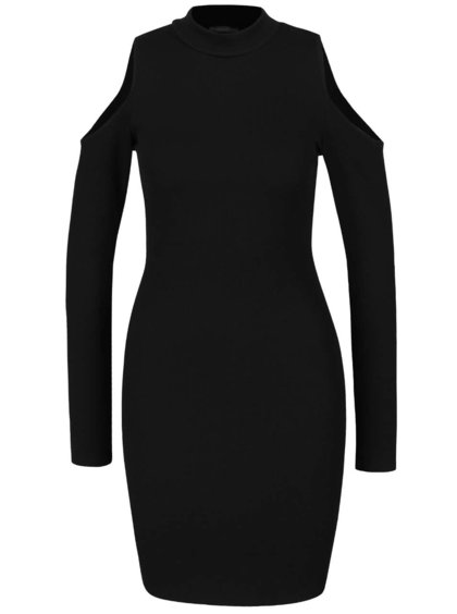 Čermé šaty s odhalenými rameny ZOOT