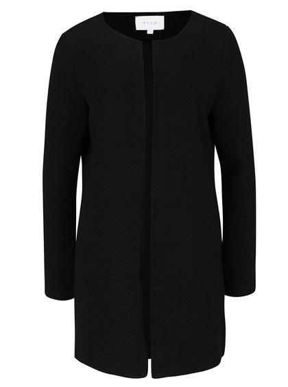 Černý delší cardigan s prošívaným vzorem VILA Naja