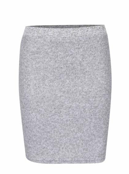 Světle šedá žíhaná sukně VILA Life