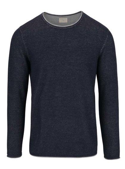 Tmavě modrý lehký žíhaný svetr Selected Homme Klop