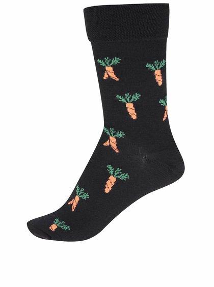 """Dobré"" čierne unisex ponožky pre Zachraň jídlo"