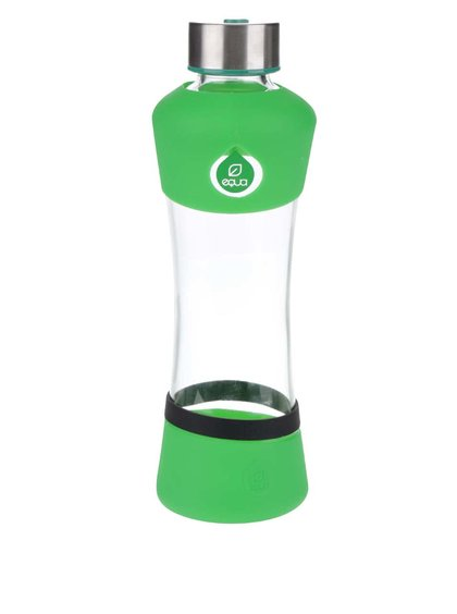 Sklenená fľaša so zelenými detailmi EQUA Active (550 ml)
