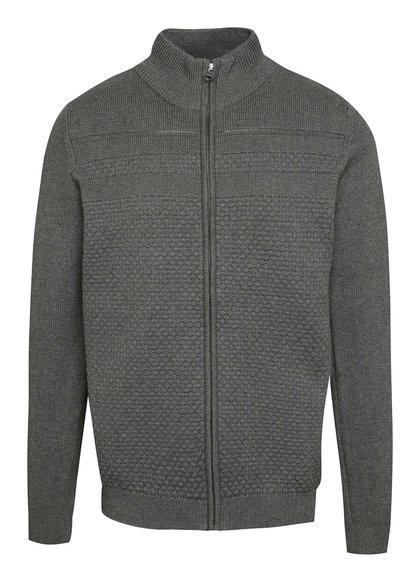 Šedý svetr na zip Shine Original
