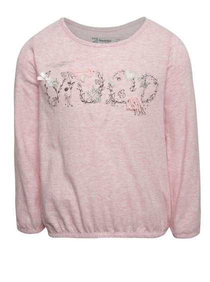Růžové holčičí tričko s dlouhým rukávem 5.10.15.