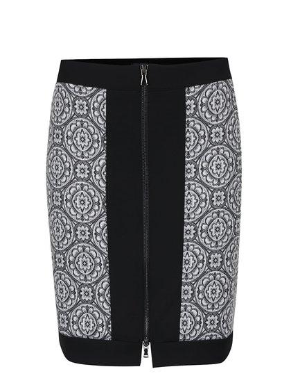 Čierno-sivá sukňa so zipsom Alchymi Yara