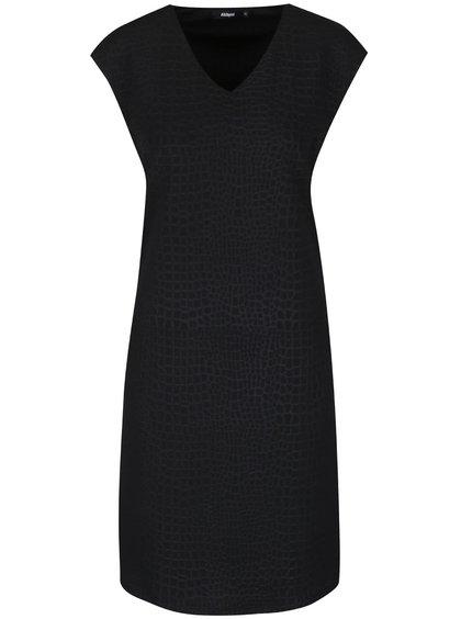 Čierne vzorované šaty so zipsom Alchymi Adorea