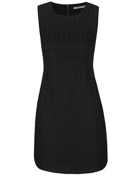 Černé strukturované šaty Darling Jaime