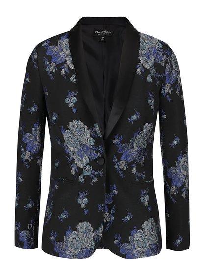 Modro-černý blejzr s květinovým vzorem Miss Selfridge