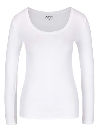 Bluză albă cu decolteu rotund TALLY WEiJL