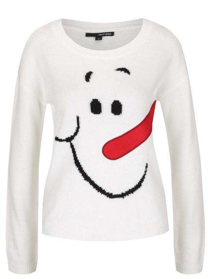 Krémový svetr s motivem sněhuláka TALLY WEiJL