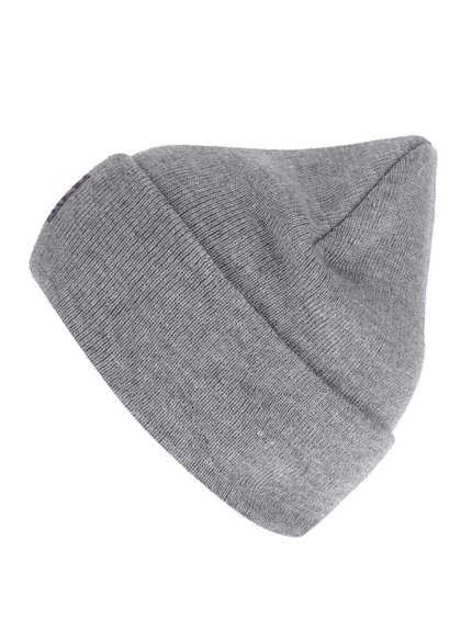 Šedá zimní čepice !Solid Edris