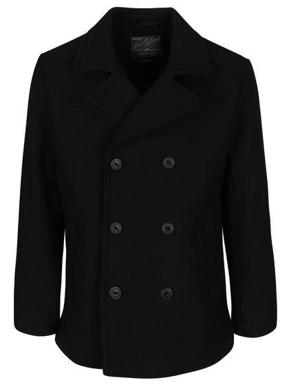 Černý vlněný krátký kabát Jack & Jones Pending