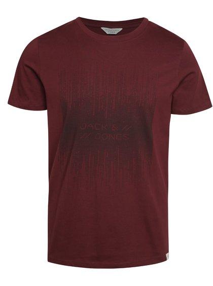 Vínové triko s krátkým rukávem Jack & Jones Valentino