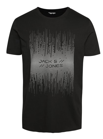Černé triko s krátkým rukávem Jack & Jones Valentino