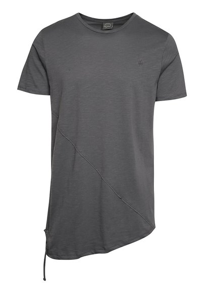 Tmavě šedé asymetrické triko Jack & Jones Try