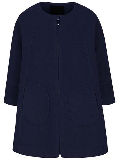 Tmavě modrý volnější kabát Lavand