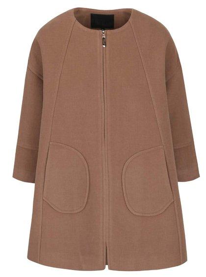 Svetlohnedý voľnejší kabát Lavand