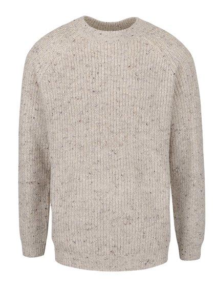 Béžový žíhaný svetr Burton Menswear London