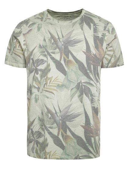 Světle zelené triko s krátkým rukávem Jack & Jones Leaf