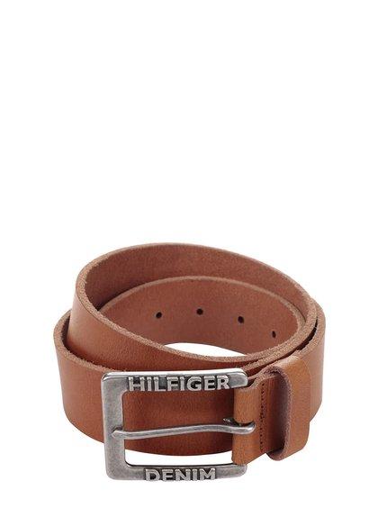 Světle hnědý pánský kožený pásek Tommy Hilfiger
