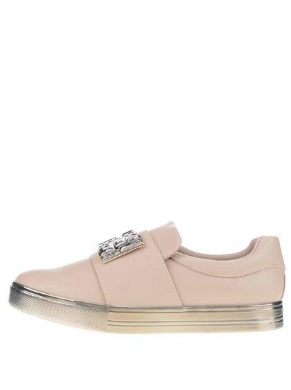 Béžové dámské boty s aplikací ve stříbrné barvě ALDO Ogima
