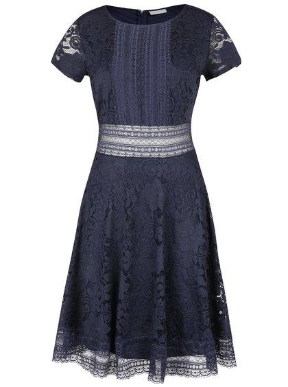Tmavě modré krajkové šaty VILA North