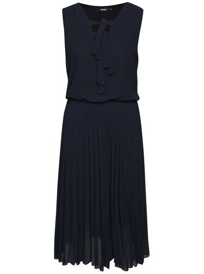 Tmavě modré šaty s plisovanou sukní Alchymi Lavonne