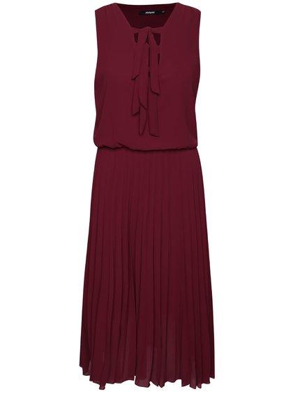 Vínové šaty s plisovanou sukní Alchymi Lavonne