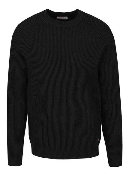 Černý žebrovaný svetr Jack & Jones Ranvarton