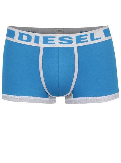 Boxeri albaștri Diesel cu logo print