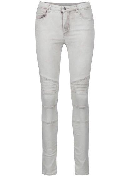 Krémové džíny s detaily na kolenou ONLY Robbi