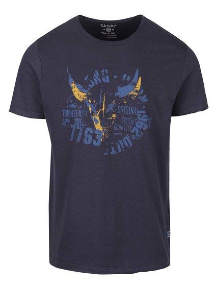 Tricou albastru închis cu imprimeu personalizat Blend