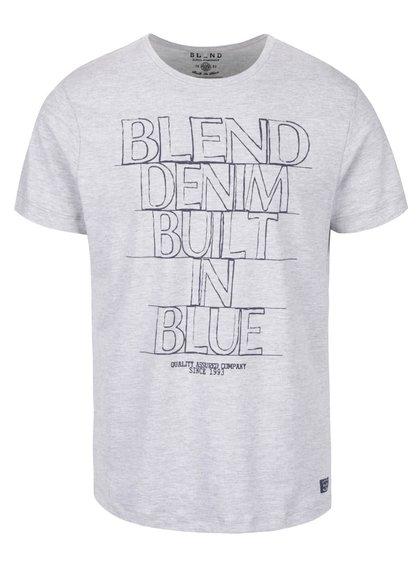 Světle šedé triko s potiskem Blend