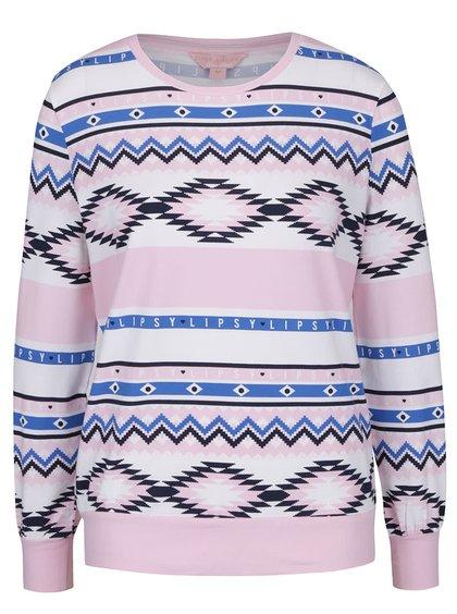 Modro-růžový horní díl pyžama Lipsy