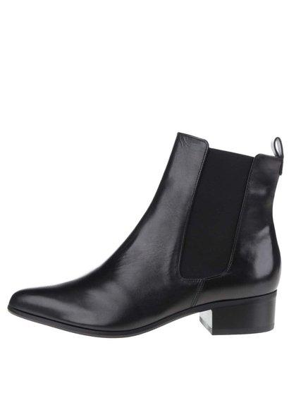 Černé kožené chelsea boty na zip Högl