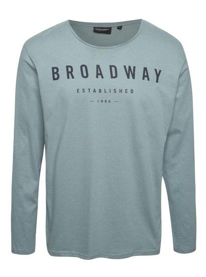 Zelenomodré pánské triko s dlouhým rukávem Broadway