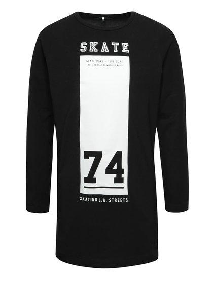 Tricou negru lung name it Demil cu print