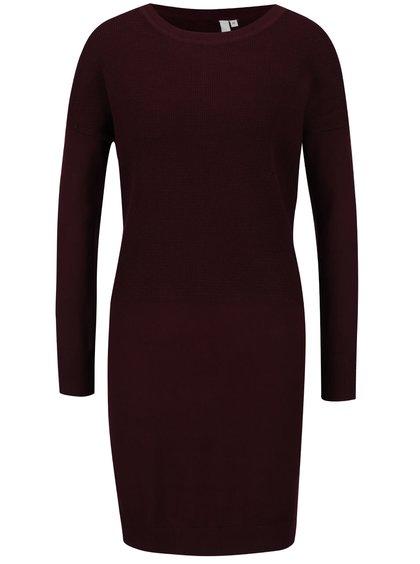 Vínové svetrové šaty QS by s. Oliver