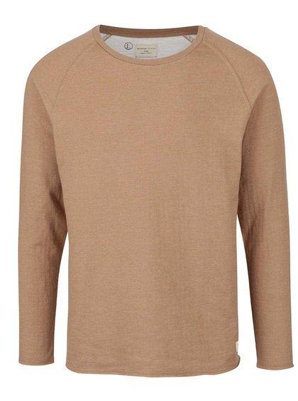 Světle hnědé triko s dlouhým rukávem Selected Homme Raber