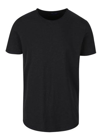 Černé basic triko Selected Homme Raw